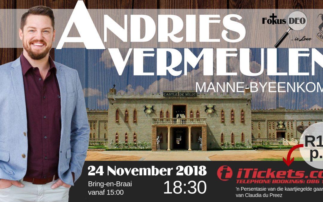 Andries Vermeulen manne-byeenkoms 25 November 2018